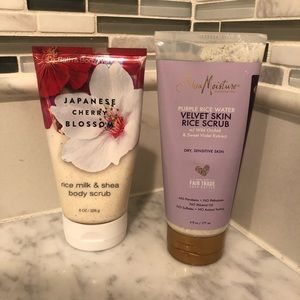 shea moisture + bath and body works scrubs
